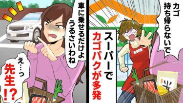 【LINE】スーパーのカゴを大量に盗む女…追いかけると娘の幼稚園の先生だった「次来るとき返すから!」→しかし、カゴは帰って来ず…意外な場所で発見された!【日刊ラインストーリー】